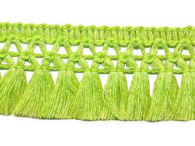 Franje-kwastjesband limegroen ca. 32 mm (ca. 16 meter)