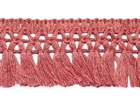 Franje-kwastjesband antiek-roze ca. 32 mm (ca. 16 meter)