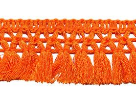Franje-kwastjesband oranje ca. 32 mm (ca. 16 meter)