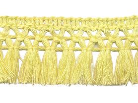 Franje-kwastjesband zacht geel ca. 32 mm (ca. 16 meter)