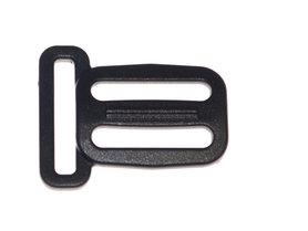 Schuifgesp zwart kunststof 25 mm met ring 25 mm (100 stuks)