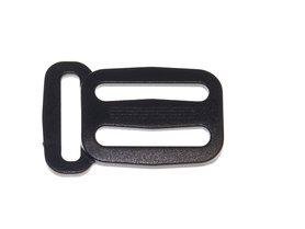Schuifgesp zwart kunststof 25 mm met ring 20 mm (100 stuks)