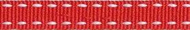 Rood-wit stippel grosgrain/ribsband 10 mm (ca. 25 m)