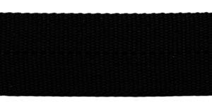 TUNNELband 25 mm zwart (ca. 50 m)