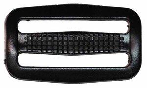 Schuifgesp zwart kunststof 50 mm (10 stuks)