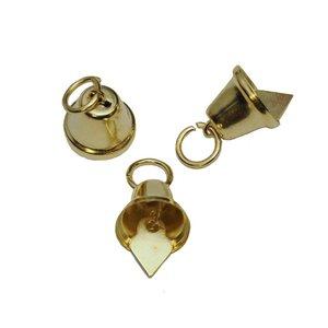 Klokvormige belletjes goudkleurig 11 mm (ca. 25 stuks)