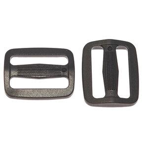 Schuifgesp zwart kunststof SLANK 25 mm (100 stuks)