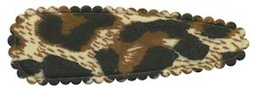Haarkniphoesje panterprint creme/bruin 5 cm (ca. 100 stuks)