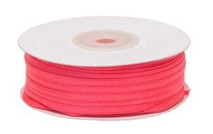 NEON roze dubbelzijdig satijnband 4 mm (ca. 90 m)