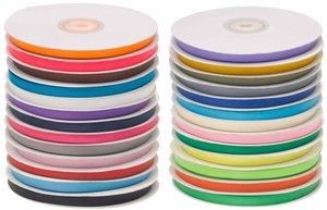 Set: 26 kleuren 7 mm satijnband (ca. 780 m)
