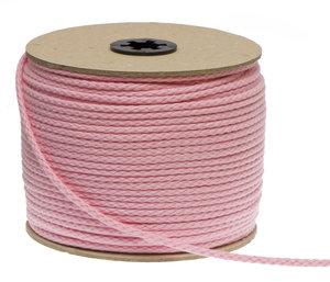 Katoenen koord roze 3 mm (ca. 100 m)