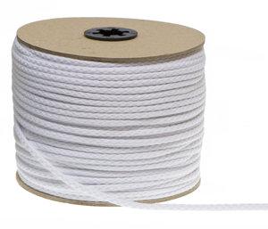 Katoenen koord wit 3 mm (ca. 100 m)