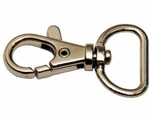 Musketonhaak / sleutelhanger zilverkleurig 20 mm (10 stuks)