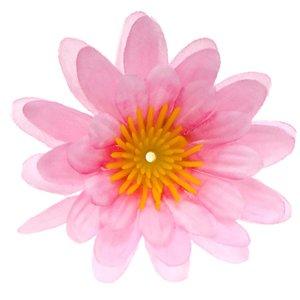 Gerbera roze stof klein ca. 6,5 cm (10 stuks)