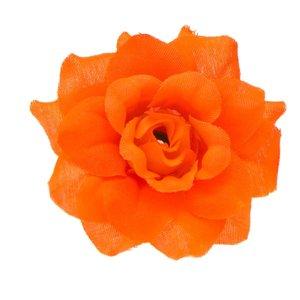 Roos NEON oranje stof ca. 4,5 cm (10 stuks)