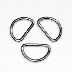 Metalen D-ring zilverkleurig 30 mm (ca. 25 stuks)