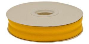 Oker geel gevouwen biaisband 20 mm (20 meter)