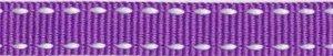 Paars-wit stippel grosgrain/ribsband 10 mm (ca. 25 m)