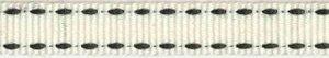 Creme-zwart stippel grosgrain/ribsband 10 mm (ca. 25 m)