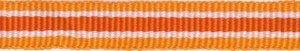 Oranje-wit-donker oranje streep grosgrain/ribsband 10 mm (ca. 25 m)