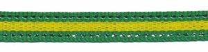 Grasgroen-zilver-gifgroen/geel streep grosgrain/ribsband 10 mm (ca. 45 m)
