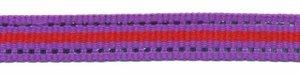 Paars-zilver-rood streep grosgrain/ribsband 10 mm (ca. 45 m)