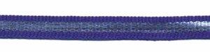 Kobalt blauw-zilver grosgrain/ribsband 7 mm (ca. 25 m)