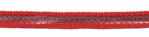 Rood-zilver grosgrain/ribsband 7 mm (ca. 25 m)