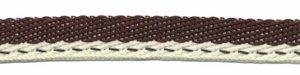 Bruin-creme 'Japans' band 10 mm (ca. 25 m)