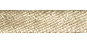 Goudkleurig gevouwen biaisband 13 mm (ca. 10 meter)