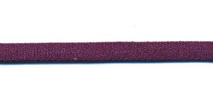 Satijnkoord licht-elastisch aubergine 4x2 mm (ca. 10 m)