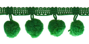Pompom band groen 20 mm (ca. 16 meter)