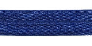 Blauw #103 elastisch biaisband 20 mm (ca. 25 m)