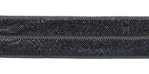 Antraciet #066 elastisch biaisband 20 mm (ca. 25 m)