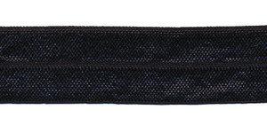 Diep donker blauw #026 elastisch biaisband 20 mm (ca. 25 m)