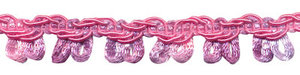 Multicolor lusjesband roze-lila-paars 12 mm (ca. 16 meter)