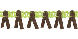 Band met suedine limegroen-legergroen 17 mm (ca. 16 meter)