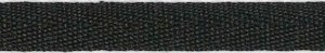 Zwart KATOENEN keperband 10 mm (ca. 50 m)