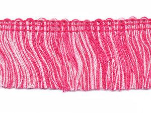 Tweekleurig franjeband roze-licht roze ca. 32 mm (ca. 16 meter)