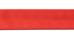 Rood gevouwen satijnen biaisband 20 mm (25 meter)