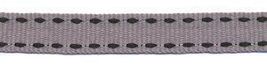 Grijs-zwart stippel grosgrain/ribsband 10 mm (ca. 25 m)