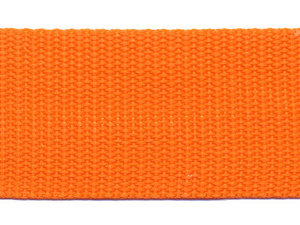 Tassenband 38 mm oranje (ca. 50 m)