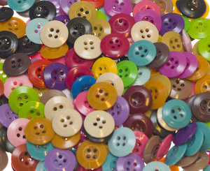 Knoop discus mix kleuren 19 mm (ca. 250 stuks)