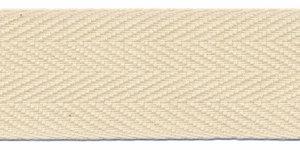 Katoenen keperband ecru 30 mm (ca. 50 m) - stevig