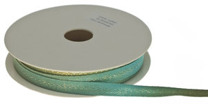 Multicolor keperband blauw-groen-oker-metallic 10 mm (ca. 25 m)