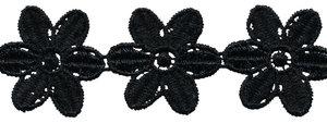 Zwart bloemband 50 mm (ca. 4 m)