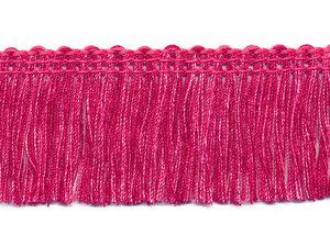 Tweekleurig franjeband fuchsia-roze ca. 32 mm (ca. 16 meter)