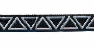 Sierband Ibiza stijl zwart-wit 12 mm (ca. 22 m)