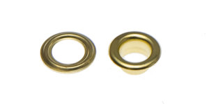 Nestels 5 mm (maat #309) goudkleurig staal (ca. 100 sets)