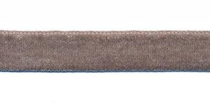 Grijs fluweelband 13 mm (ca. 32 m)
